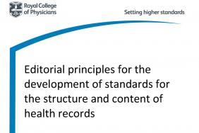 healthcare record standards rcp london