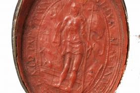 Seal from the diploma of Doctor of Medicine for John Wallace, Padua University, 1628