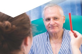 Front cover of 'Bedside vision check for falls prevention' assessment tool
