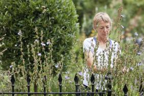 Head gardener Jane Knowles tending to a plant