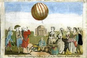 George III balloon print