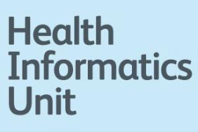 Health Informatics Unit speech bubble graphic