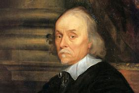 Portrait of William Harvey in oil paint
