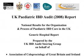 IBD organisational audit - Paediatric report - round two 2009