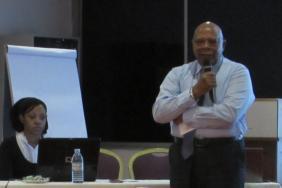 Professor Evarist Njelesani opens the meeting