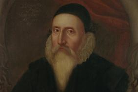 John Dee (1527-1609). Oil on canvas by unknown artist, c.1594. © Ashmolean Museum, University of Oxford.