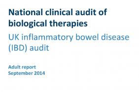 National clinical audit of biological therapies - Adult report - September 2015