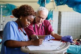 Dr Terry Gibson in Sierra Leone