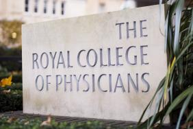 Sign outside the Royal College of Physicians' headquarters in London