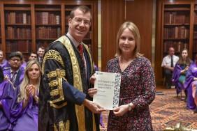 Dr Emily Heiden and RCP president Professor Andrew Goddard
